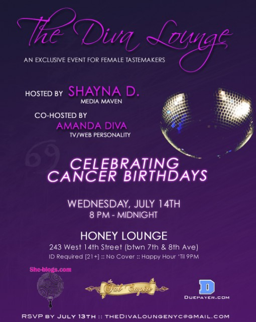 The Diva Lounge - July Birthday Bash