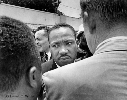 Martin Luther King Jr. at Medgar Evers Funeral